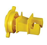 Red Snap'r® Round Post Insulator, Yellow