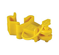 Red Snap'r® T-Post Pin Lock Insulator, Yellow