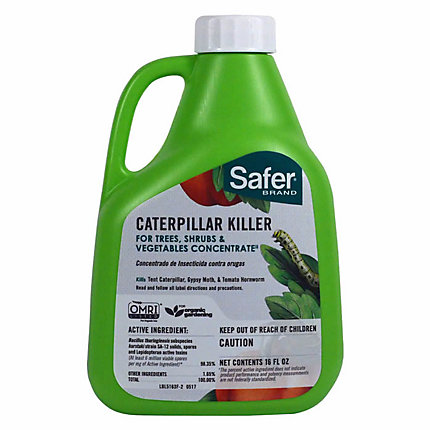 safer brand caterpillar killer ii with b t concentrate 16oz
