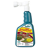 Safer® Brand Moss & Algae Killer & Surface Cleaner Concentrate 32oz Hose-End Sprayer