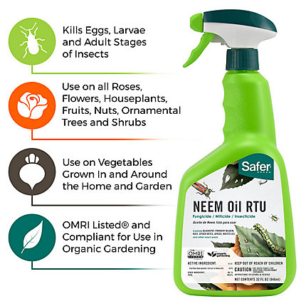 Safer® Brand Neem Oil Ready-to-Use – Fungicide, Miticide