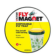 6 Traps - Victor® Poison-Free® Fly Magnet® Disposable Fly Trap With Bait