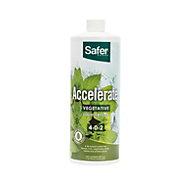 Accelerate (4-0-2) Hydroponic Liquid Nutrient Fertilizer Concentrate - 32 oz | Safer® Brand