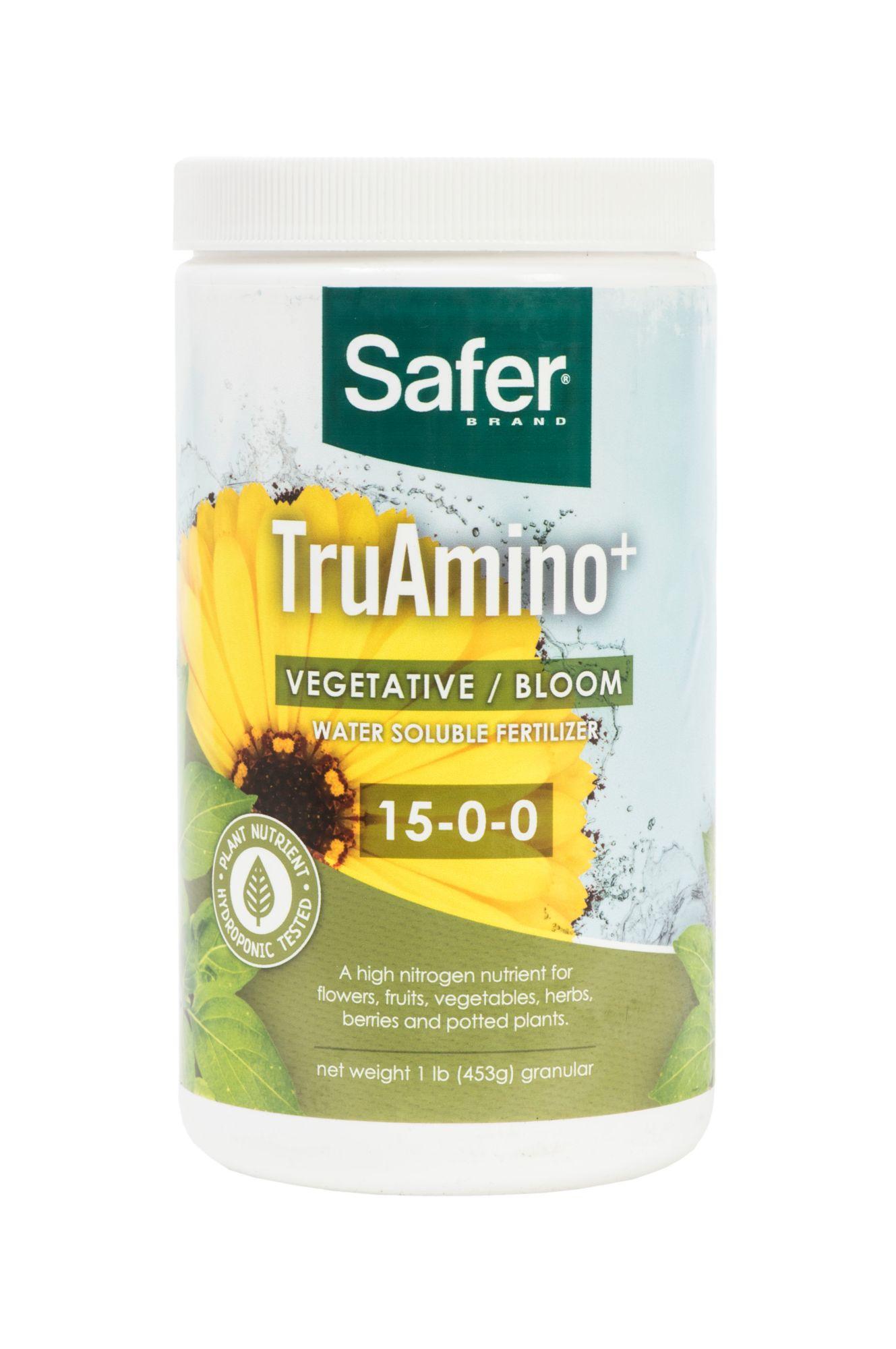 Safer brand truamino 15 0 0 hydroponic nitrogen for Organic soil brands