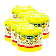 6 Traps Safer® Brand Deluxe Yellow Jacket Wasp Reusable Trap With Bait
