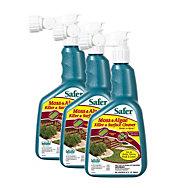 3 Pack - Safer® Brand Moss & Algae Killer & Surface Cleaner 32oz Hose-End Sprayer