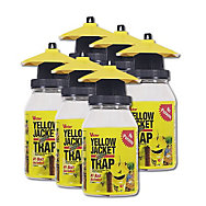 6 Traps - Victor® Poison Free® Yellow Jacket & Flying Insect Reusable Trap 1qt