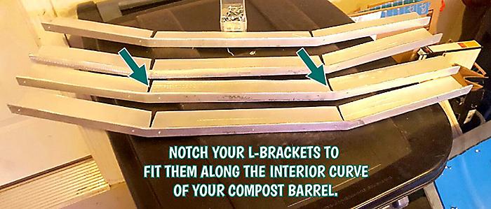 install compost bin mixing fins
