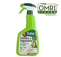 Safer® Brand Tomato & Vegetable 3-in-1 Garden Spray® – 32 oz OMRI Listed® for Organic Use