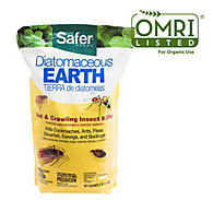 Safer® Brand Diatomaceous Earth - Bed Bug, Flea, Ant, Crawling Insect Killer 4 lb OMRI Listed® for Organic Use