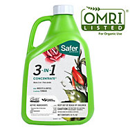 Safer® Brand 32 oz. 3-in-1 Garden Spray Concentrate OMRI Listed® for Organic Use
