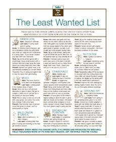The Least Wanted List