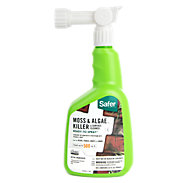 Safer® Brand Moss & Algae Killer & Surface Cleaner Concentrate 32 oz Hose-End Sprayer OMRI Listed® for Organic Use