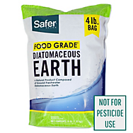 Safer® Brand Food Grade Diatomaceous Earth – 4 lb