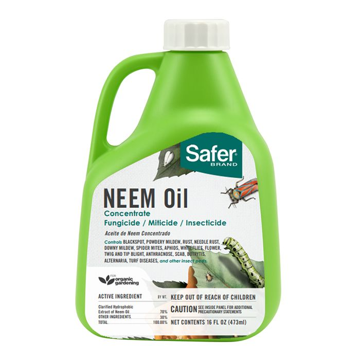 Safer Brand Neem Oil Concentrate 16 Oz 5182 6 Saferbrand Com